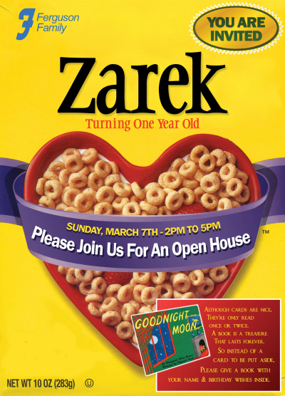Zarek B-day Invite