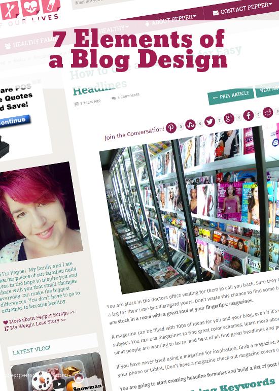 7 Elements of a Blog Design
