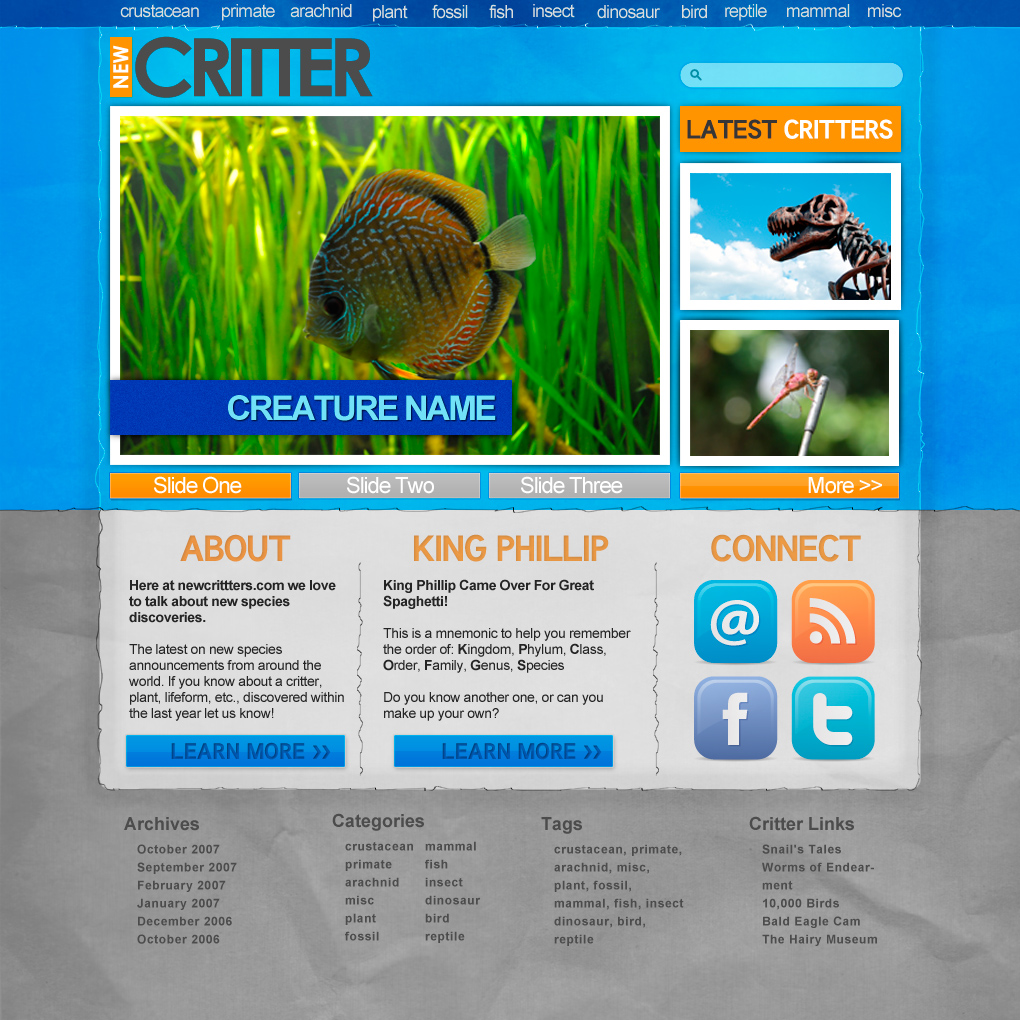 PSD Makeover: New Critter