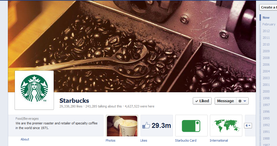 The Ultimate List of 60 Amazing Brand Timelines on Facebook