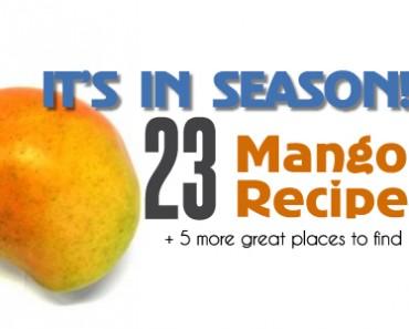 It's in Season! 23 Mango recipes from dinner to dessert!