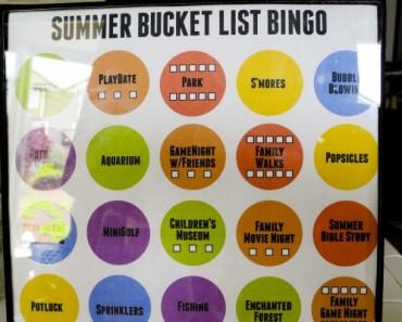 Summer Bucket List Bingo