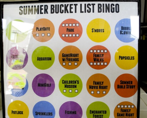 Summer Bucket List Bingo