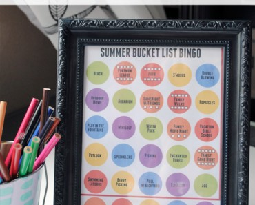 Summer Bucket List Bingo Free Printable