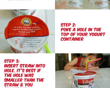 Quick trick for toddlers to eat yogurt with less mess