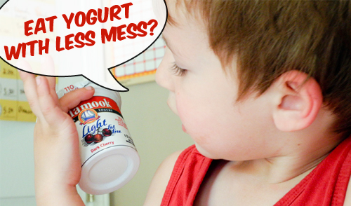 Less Mess Yogurt Trick