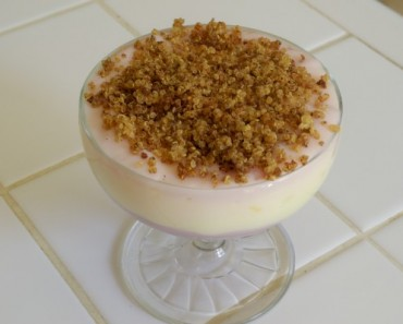 Rainbow Yogurt with toasted quinoa