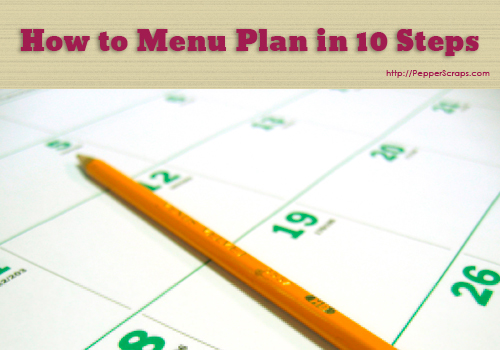 How to Menu Plan in 10 Steps