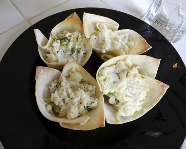 Baked Ricotta in Wonton Cups