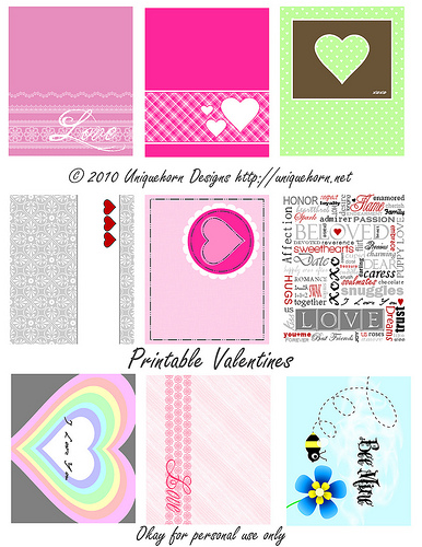 February Freebies: Valentine's Day Cards