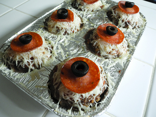 Mini Monster Eye Meat Loaves