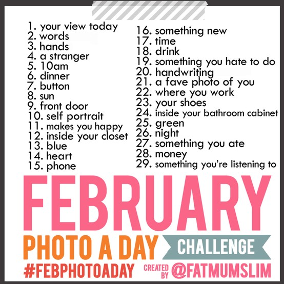 Photo a Day Challenge for February