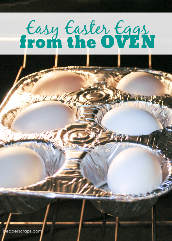 Easter Eggs from the Oven