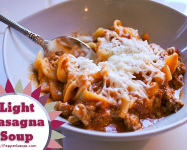 Light Lasagna Soup