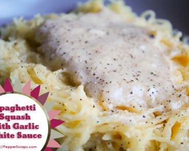 Spaghetti Squash with Garlic White Sauce