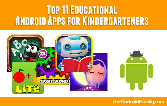 Educational Android Apps for Kindergarteners