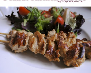 Peanut Chicken Kabobs