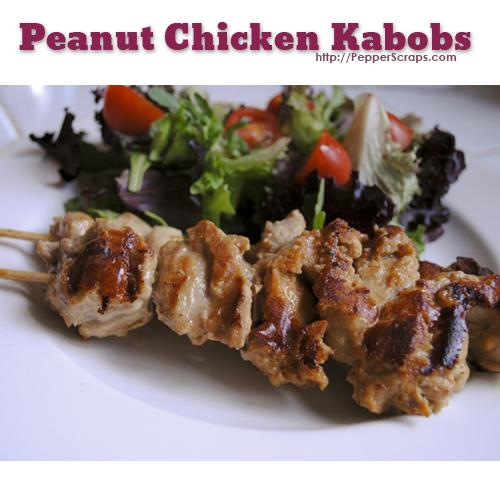 Peanut Chicken Kabobs