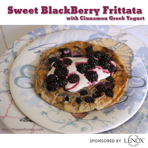 Sweet BlackBerry Frittata