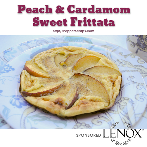 Peach and Cardamom sweet frittata