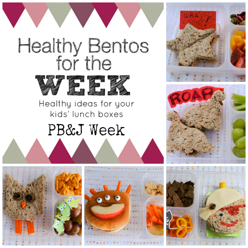 Healthy Bentos Peanut Butter and Jelly Week