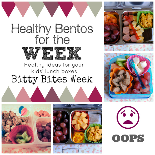 Healthy Bentos for a week bitty bites