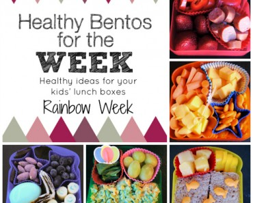 Heathly Bento Lunches Rainbow Week