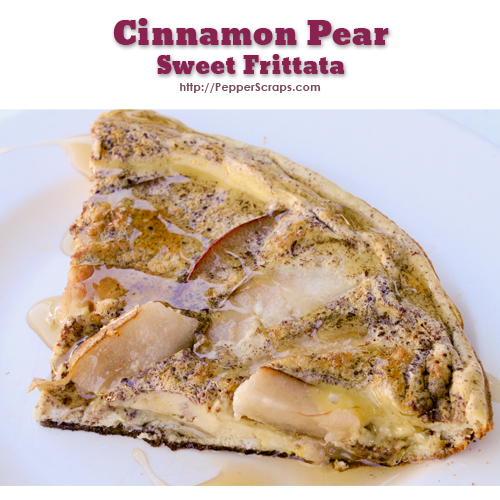 Cinnamon Pear Sweet Frittata