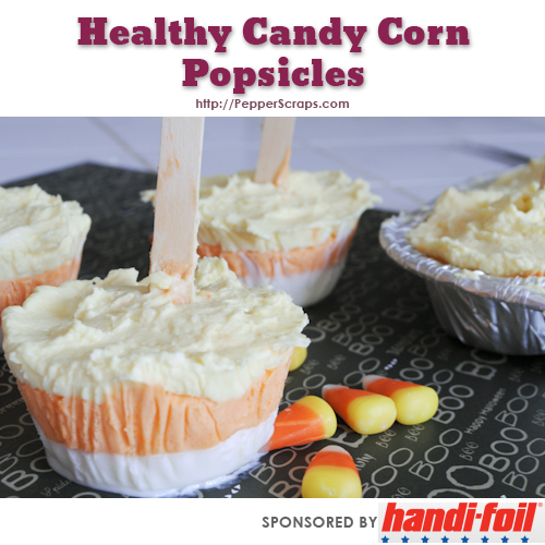 Healthy Candy Corn Popsicles