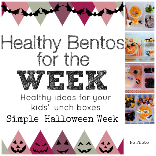 Simple Healthy Halloween Week of Bentos
