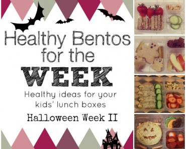 Healthy Bentos Lunches Halloween Week 2