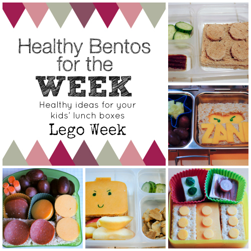 Lego Week Healthy Bento Lunches