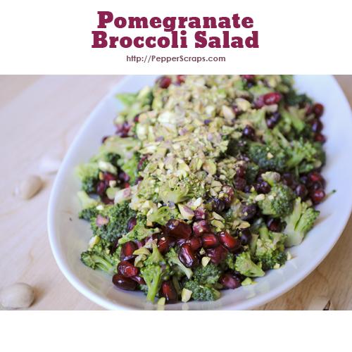 Pomegranate Broccoli Salad