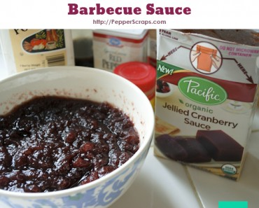 Skinny Cranberry Barbecue Sauce