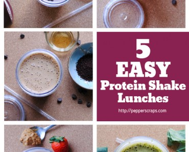 5 easy protein shake recipes for lunches