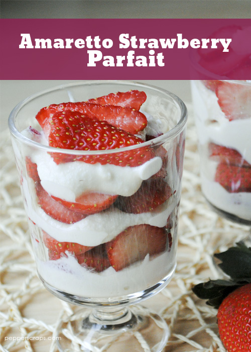 Amaretto Strawberry Parfait