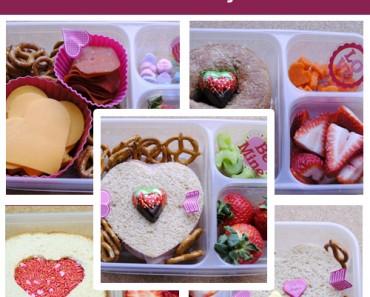 Healthy School Lunches Valentine's Day Bentos