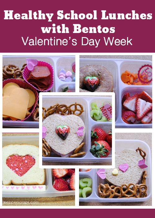 Healthy School Lunches Valentine's Day Bentos