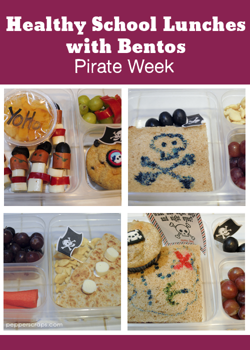 Healthy School Lunches with Bentos Pirate Week