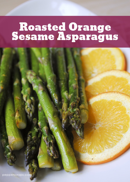 Roasted Orange Sesame Asparagus