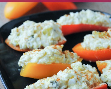 Egg Salad Stuffed Mini Sweet Peppers