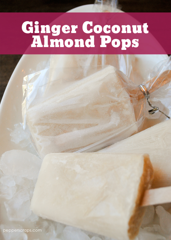 Ginger Almond Coconut Pops