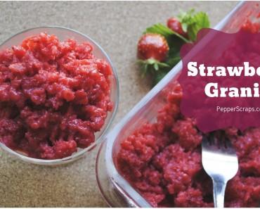 Strawberry Granita (Video)