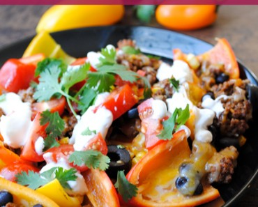 Low Carb Baked Pepper Nachos