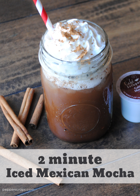 2 Minute Iced Mexican Mocha in your Keurig