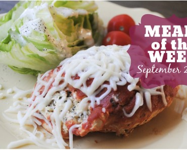 Meals of the Week | Sept 22-26