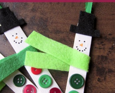 Crafting with your Kids Snowman Ornaments with video tutorial