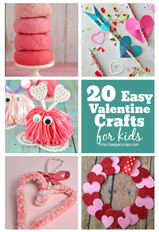 20 easy valentine crafts for kids