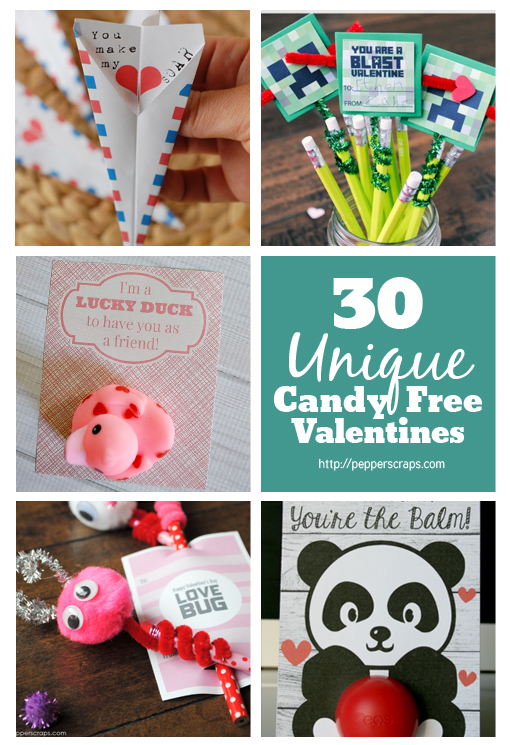 30 unique candy free valentines day cards