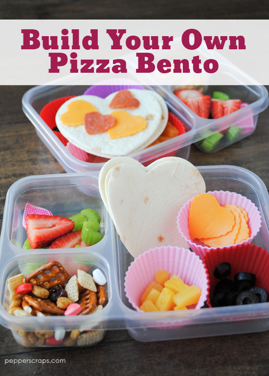 Build Your Own Pizza Bento Great for Valentines Day